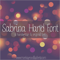 Illustration of font MRF Sabrina Hand Font