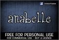 Illustration of font CF Anabelle