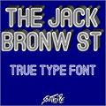 Illustration of font The Jack Bronw St
