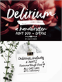 Illustration of font Delirium Sample