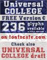 Illustration of font UNIVERSAL-COLLEGE
