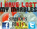 Illustration of font I HAVE LOST MY MARBLES