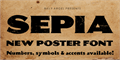 Illustration of font SEPIA Personal Use
