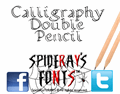 Illustration of font Calligraphy Double Pencil