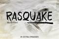 Illustration of font RASQUAKE demo