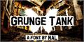 Illustration of font Grunge Tank