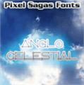 Illustration of font AngloCelestial