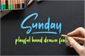 Illustration of font Sunday Vibes