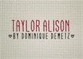 Illustration of font Taylor Alison