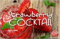 Illustration of font Strawberry Cocktail