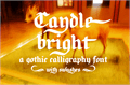 Illustration of font Candlebright