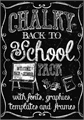Illustration of font Back to School Elements DEMO