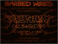 Illustration of font Barbed Wires