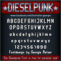 Illustration of font DIESELPUNK