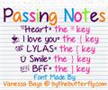 Illustration of font PassingNotes