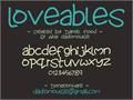 Illustration of font Lovables