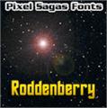 Illustration of font Roddenberry