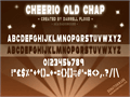 Illustration of font Cheerio Old Chap