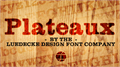 Illustration of font Plateaux