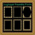 Illustration of font Vintage Frames_22