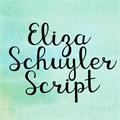 Illustration of font KG Eliza Schuyler Script