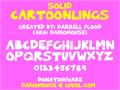 Illustration of font Solid Cartoonlings