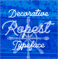 Illustration of font Ropest PERSONAL USE ONLY