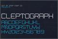 Illustration of font Cleptograph