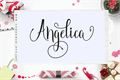 Illustration of font Angelica Free