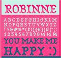 Illustration of font Robinne
