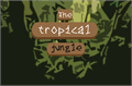 Illustration of font The tropical jungle