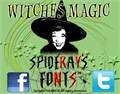 Illustration of font Witches Magic