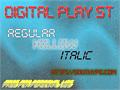 Illustration of font Digital Play St