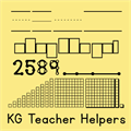 Illustration of font KG Teacher Helpers