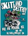 Illustration of font SKT AND DESTROY