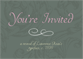 Illustration of font YoureInvited