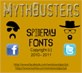 Illustration of font MythBusters