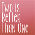 Illustration of font KG Two is Better Than One