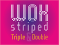 Illustration of font WOX-Striped Triple Demo