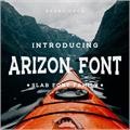 Illustration of font ARIZON