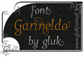 Illustration of font Garineldo