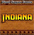 Illustration of font Indiana