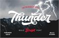 Illustration of font Thunder Demo