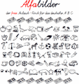 Illustration of font Alfabilder