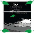 Illustration of font the leaves of the forest