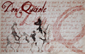 Illustration of font Don Quixote