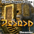 Illustration of font Dwemer
