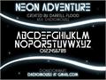 Illustration of font Neon Adventure