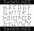 Illustration of font Swordlings