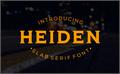 Illustration of font HEIDEN